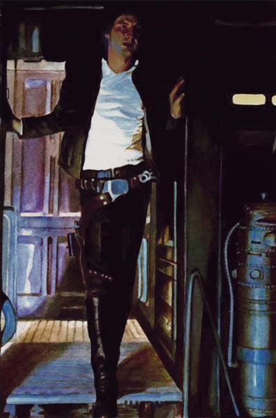 Illustration named: Han Solo Aboard the Millenium Falcon